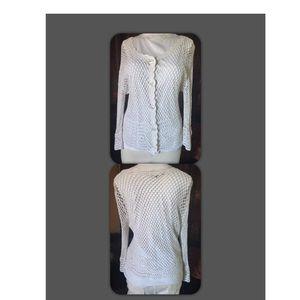 White crochet jacket